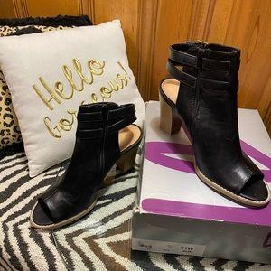Women's Vegan Leather Block Heels